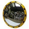 Miroir industrie Rond 800 mm avec cadres  en jaune et noir