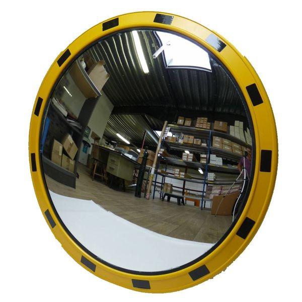 Verkeersspiegel 'INDUSTRIE' (Rond) Ø 800 mm - geel/zwart