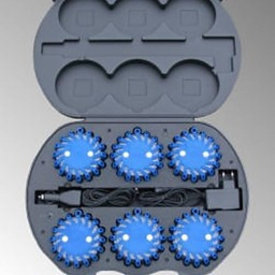 Case with 6  blue LED rotorlights (incl. € 0.342 BEBAT)