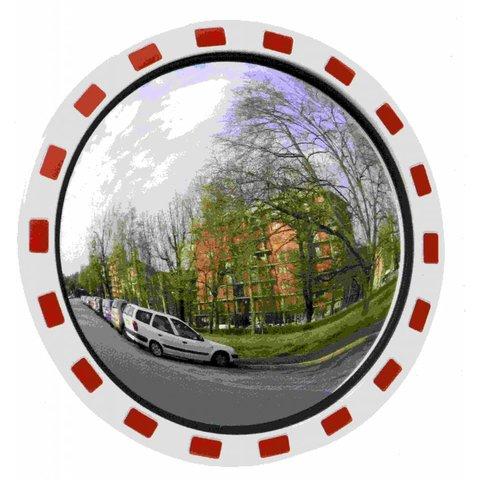 Miroir de circulation 'TRAFIC DELUXE' 600 mm - rouge/blanc