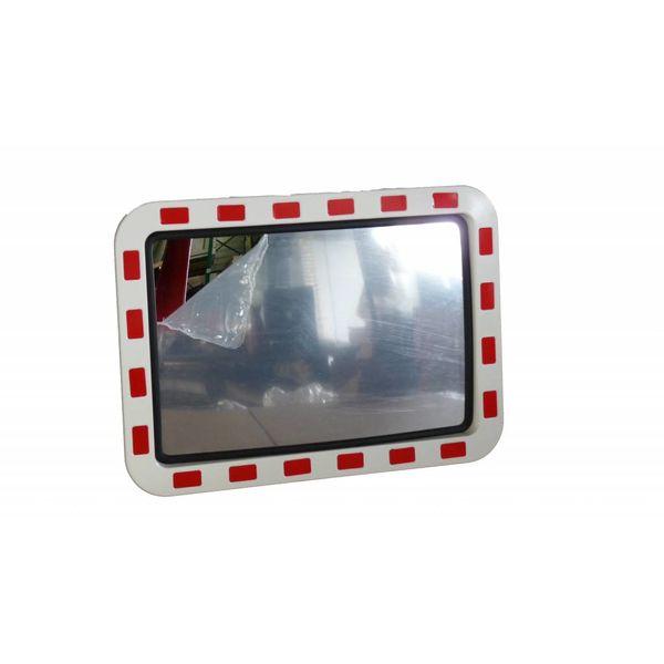 Miroir de circulation 'TRAFFIC DELUXE' 600 x 800 mm - rouge/blanc