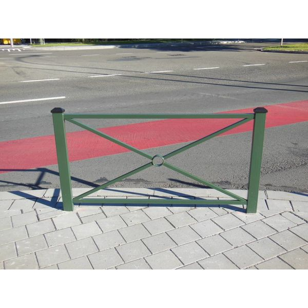 Petite barrière Pagode 1080 x 1235 mm - Vert RAL 6009