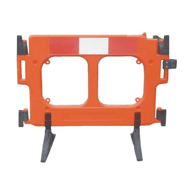 Construction barrier 'Clearpath' in orange polyethylene