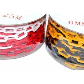 Kunststof ketting op rol  - Ø 6 mm - 25 m