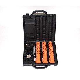 Case with 3 LED traffic batons - orange (incl. € 0.189 BEBAT)