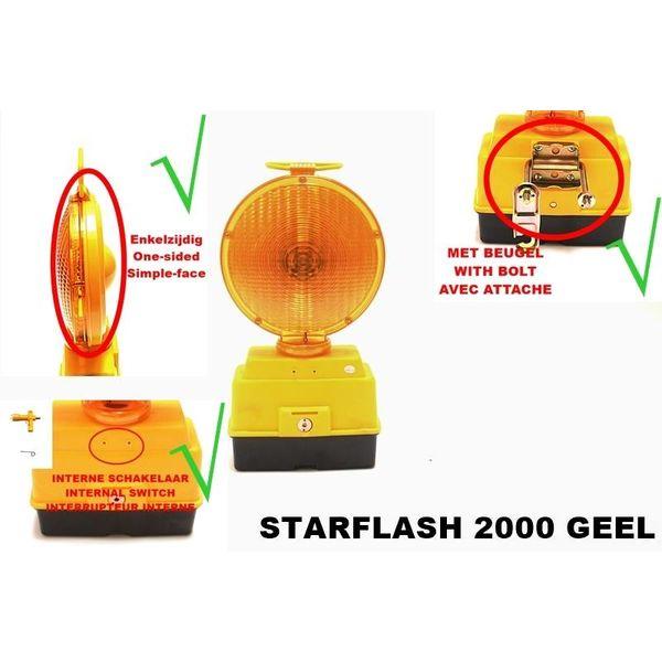 STAR Lampe de chantier STARFLASH 2000 - simple face -  jaune