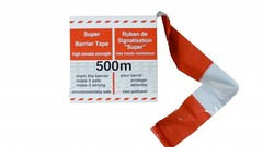 Plastic safety mesh, barrier tape and plastic chains
