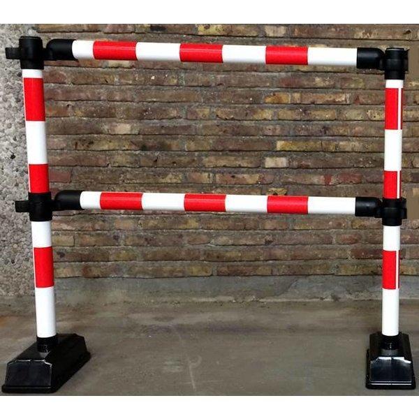 """1 mètre de barrière """"Express"""" - 2 lisses Rouge / Blanc"""