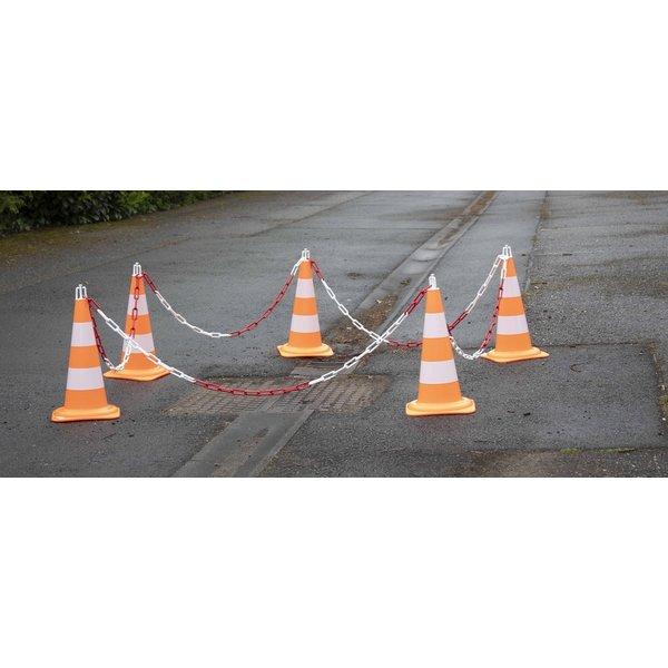 Ensemble de 5 cônes (50 cm) et 7.5 m chaine de signalisation (Ø 8mm)