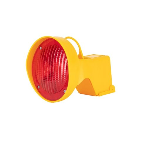 Warning lamp for traffic cones - Red