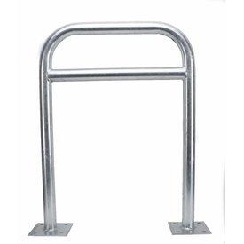 Arceau vélo 600 x 800 mm avec barre transversale sur platines