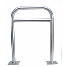 Cycle stand 600 x 800 mm with crossbar on base plates