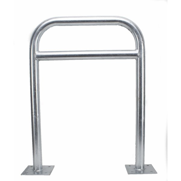 Cycle stand 600 x 800 mm Ø 50 mm with crossbar on base plates