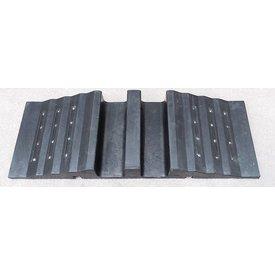 Kabelgoot/sleuf 30 x 85 x 10 cm - zwart + 24 reflectoren