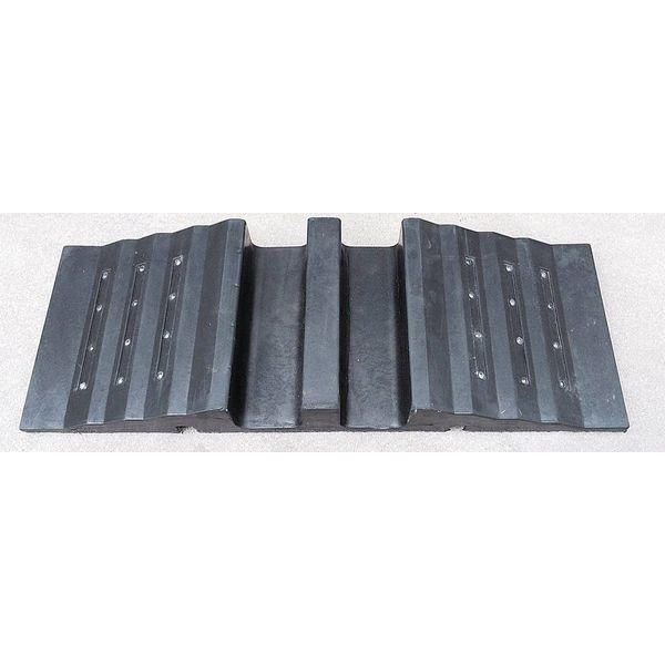 Kabelgoot/sleuf 30 x 85 x 10 cm - zwart zonder deksel + 24 reflecterende katogen
