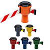 SKIPPER barrier belt unit  with 9 metersyellow/black tape - CAUTION DO NOT ENTER