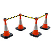 SKIPPER barrier belt unit  with 9 meters yellow/black tape