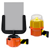 SKIPPER XS barrier belt unit with 9 meter of black/yellow retractable safety barrier