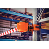 SKIPPER XS barrier belt unit with 9 meters of red/white retractable barrier tape