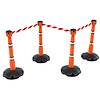Skipper set of retractable  barrier posts - crowd control