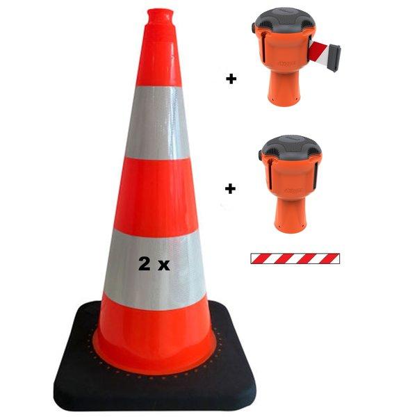 SKIPPER Skipper budget set retractable barrier cones - crowd control