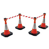 Skipper budget set retractable barrier cones - crowd control