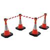 BIG set Skipper retractable barrier cones - crowd control