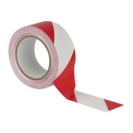 High-strength barrier tape 50 mm x 100 m Red / White
