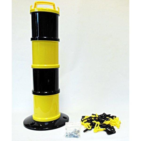 Modular beacon Yellow / Black Ø 200 mm + 5 m chain