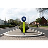 Flexible and reboundable traffic sign