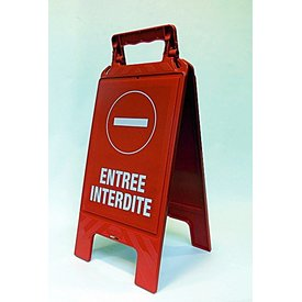 """A-board signs, information signs """"no entry"""" Dutch & French"""