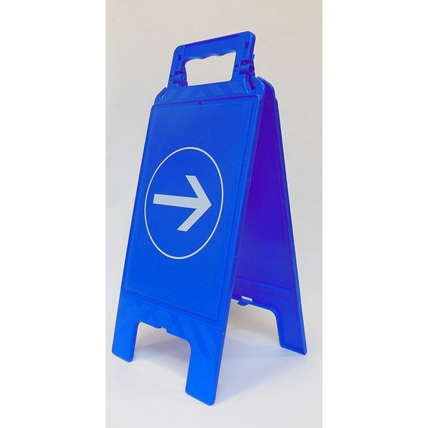 """A-board signs, information signs """"Mandatory direction"""" Dutch & French"""