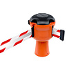SKIPPER barrier belt unit  with 9 meters red/white reflective tape