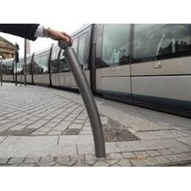 Flexible bollards with shape memory