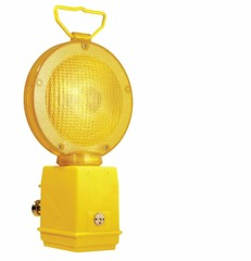 Barricade lights and warning lamps, flashing road lamps, sequential road lamps