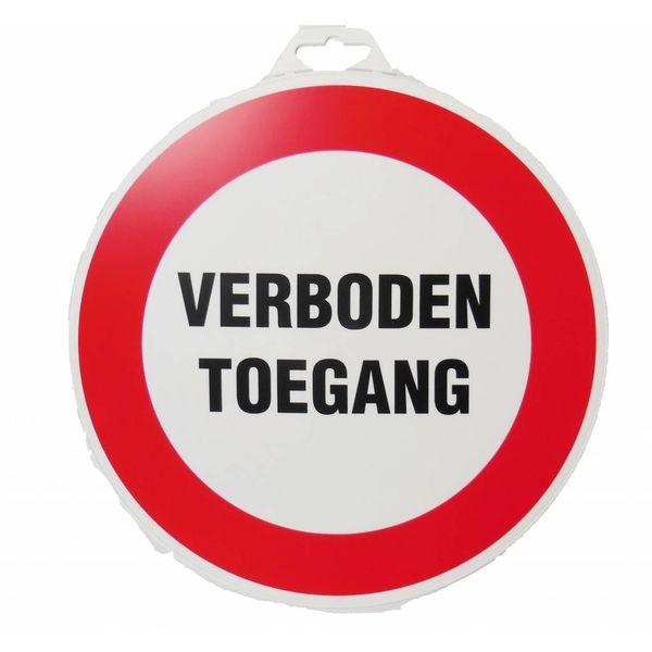 Pictogram 'Verboden Toegang' Ø 300 mm