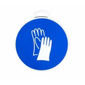 Icon 'Gloves Mandatory ' Ø 180 mm