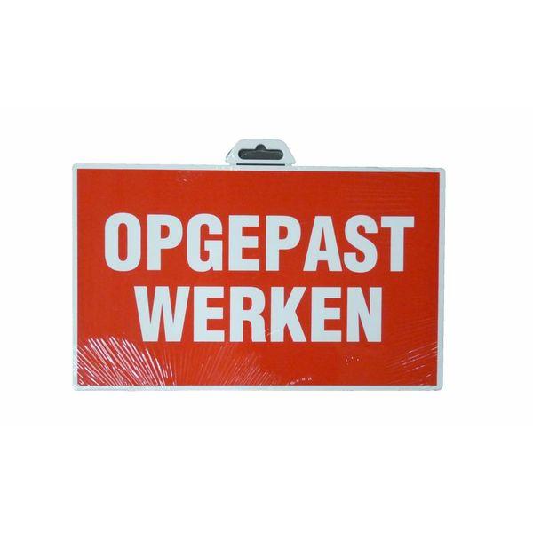 Pictogram 'Opgepast Werken' 330 x 200 mm