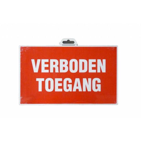 Pictogram 'Verboden Toegang'