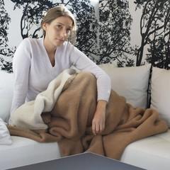Ritter Lima Star | Alpaka Decke | 100% Alpaka Haar |creme-camel