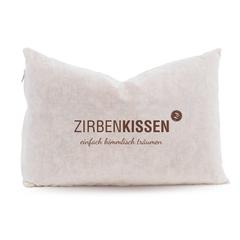 "Zirben Familie Pine cushion 30x20 nature - ""Simply dream heavenly"""