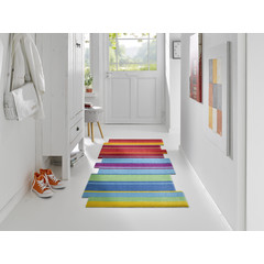 Kleen-Tex wash + dry doormat | Dancing Steps Multi | ... washable carpet!