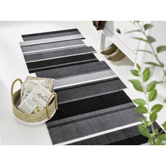 Kleen-Tex wash + dry doormat | Dancing Steps Black | ... washable carpet!