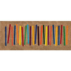 Kleen-Tex wash + dry doormat | Mixed Stripes | ... washable carpet!