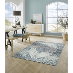 Kleen-Tex wash + dry doormat | Levi Blue | ... washable carpet!
