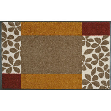 Kleen-Tex wash + dry doormat | Florita by Domogalla | ... washable mat with rubber edge!