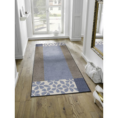 Kleen-Tex wash + dry doormat | Florita gray | ... washable mat with rubber edge! - Copy