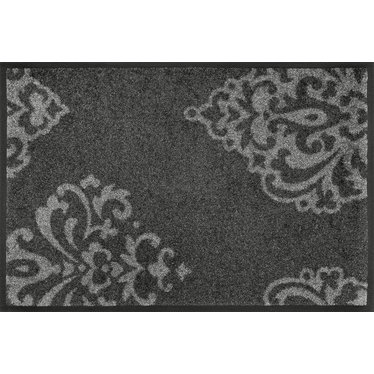 Kleen-Tex wash + dry doormat | Lucia gray by Domogalla | ... washable mat with rubber edge!