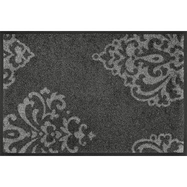 Kleen-Tex wash+dry  Fußmatte | Lucia Grey by Domogalla |  ...waschbare Matte mit Gummirand!