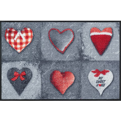 Kleen-Tex wash + dry doormat   My Sweet Home Gray   ... washable mat with rubber edge!